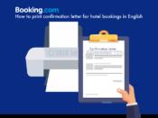 Booking.comの予約票を英語でプリントする方法