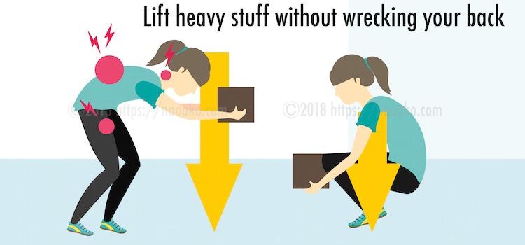 重心がずれた荷物の持ち上げ方