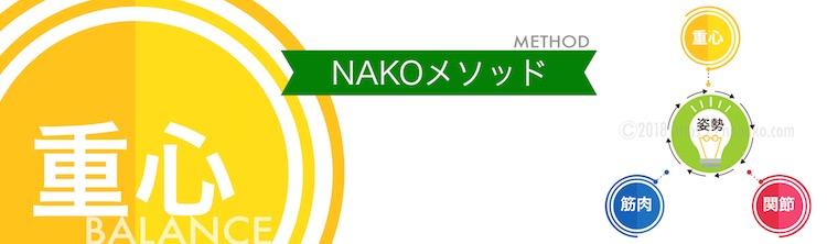 NAKOメソッドで大切な要素である重心について